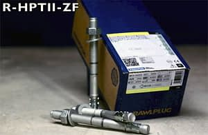 Repedezett betonban is használható alapcsavar