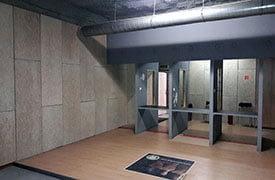Lőtér hangszigetelése a Knauf Insulation Heraklith rendszerével