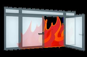 Tűzgátló üvegajtók, portálok, üvegfalak