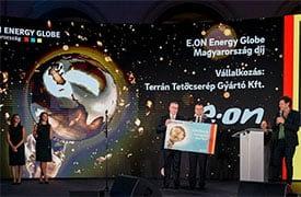 Energy Globe díjat nyert a Terrán GENERON napelemes tetőcserép