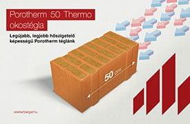 Új Porotherm 50 Thermo Okostégla - a valaha volt legjobb hőszigetelő képességű Porotherm tégla