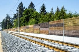 Durisol zajvédő fal