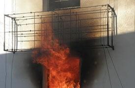 EPS szigetelés tűzvizsgálat