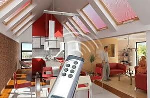 Elektromos távvezérlés tetőablakokhoz