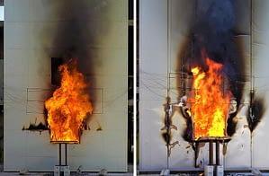 Hőszigetelt szendvicspanelek homlokzati tűzterjedésének minősítése