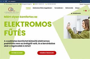 Czinege.hu elektromos fűtés weboldal
